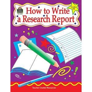 Hw to write report